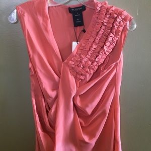 MM Couture by Miss Me: Pink Silk blouse. NWT